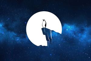 Penguin Linux 4k Wallpaper