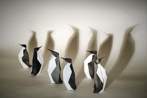 Penguins Origami Wallpaper