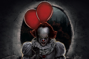 Pennywise Ballons Wallpaper