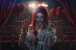 Pennywise Clone Girl Wallpaper