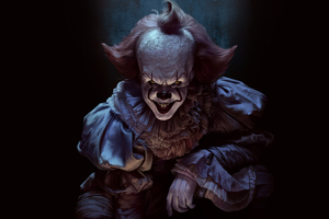 Pennywise Joker 4k Wallpaper