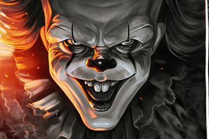 Pennywise Zombie 4k Wallpaper