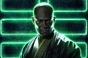 Peter Mensah As Blind Master In Snake Eyes Wallpaper