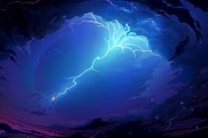 Phoenix Bird Lightning