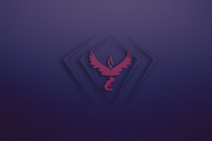 Phoenix Pokemon Logo 4k Wallpaper
