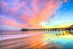 Pier Beach California Wallpaper