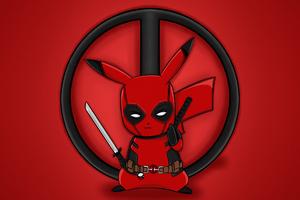 Pika Deadpool Wallpaper