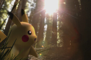 Pikachu In Forest Wallpaper