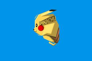 Pikachu Minimalism 8k Wallpaper