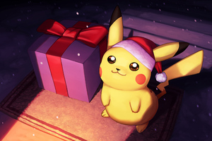 Pikachu On Christmas Day Fanart
