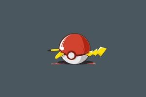 Pikachu Pokeball Wallpaper