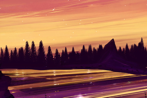 Pink And Yellow Sky 4k Wallpaper