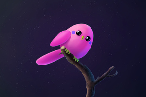 Pink Birb Wallpaper