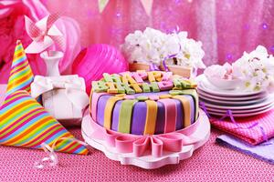 Pink Birthday Cake Wallpaper