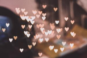 Pink Bokeh Hearts 4k