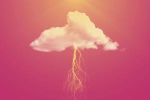 Pink Clouds Lightning 4k