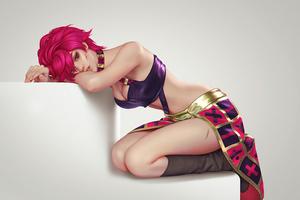 Pink Hair Girl Down