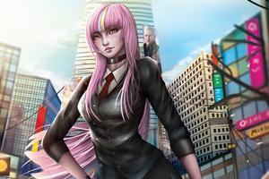 Pink Hair Scifi Girl 4k