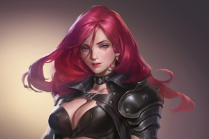 Pink Hair Warrior Girl Wallpaper