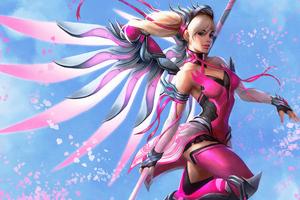 Pink Mercy 8k Wallpaper