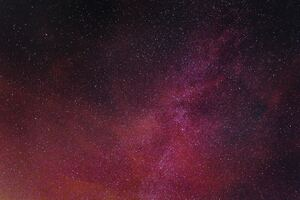 Pink Stars Night Astronomy 4k