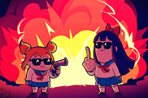Pipimi And Popuko In Pop Team Epic