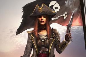 Pirate Girl 4k Wallpaper