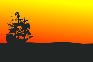 Pirate Ship Minimalist 4k