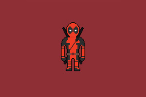 Pixel Deadpool Art Wallpaper