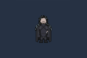 Pixel Jon Snow Art Wallpaper