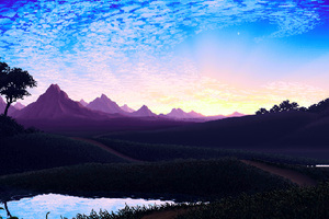 Pixel Landscape Wallpaper