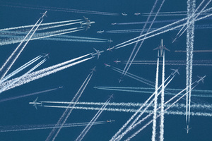 Planes Sky Trails 5k Wallpaper
