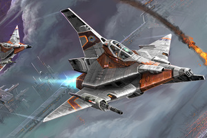 Planes Wars Scifi Digital Art 10k