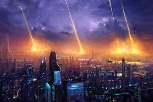 Planet Attack 4k Wallpaper