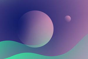 Planet Jupiter Minimalism 5k