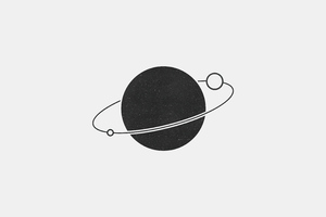 Planet Simple Minimal 5k Wallpaper