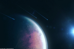 Planet Space Scifi 4k Wallpaper