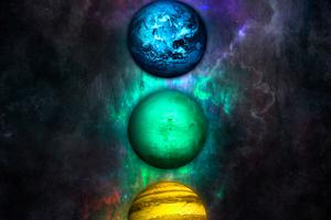 Planets Chakra 4k