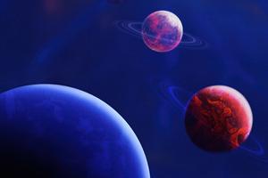 Planets Digital Space 4k