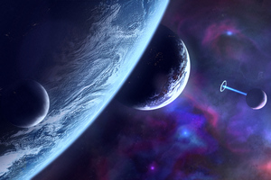 Planets Scifi Art 8k Wallpaper