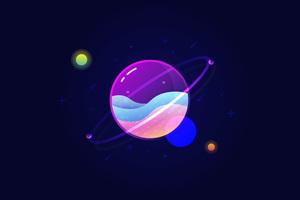 Planets Vector 10k Wallpaper