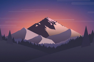 Pleasant Landscape Mountain 4k