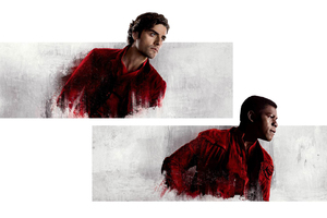 Poe And Finn In Star Wars The Last Jedi 2017 Wallpaper