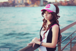 Pokemon Brunette Cosplay Girl 4k Wallpaper