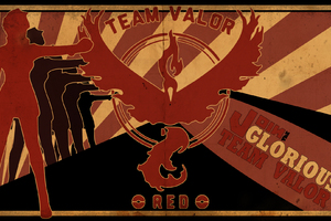 Pokemon GO Team Valor Art