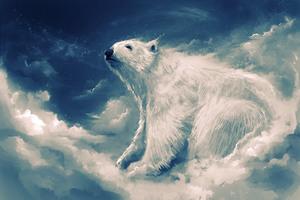Polar Bear Artwork 4k