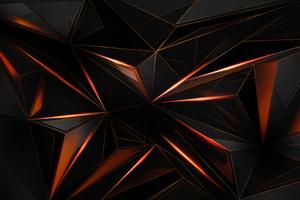 Polygon Abstract Shapes Sharp 4k