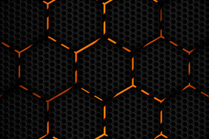 Polygon Orange Abstract 4k Wallpaper