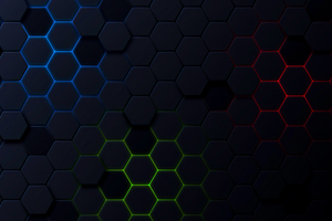 Polygon Shapes Dark 5k