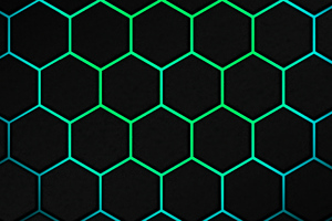 Polygon Web Green 5k Wallpaper